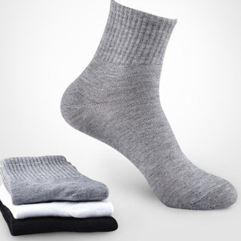 20Pcs=10Pairs Solid Color Men Black Socks Casual Sports Disposable Indoor Socks Wholesale Cheap Price For Men Women Four Seasons
