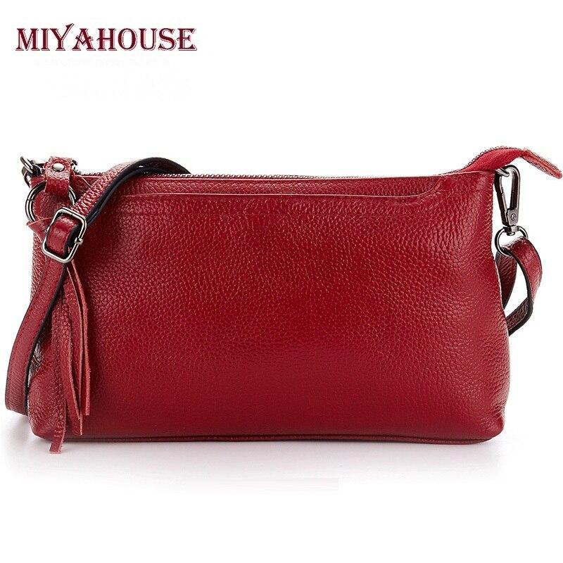 European Style Female Small Handbags Genuine Leather Women Envelop Shoulder Bags