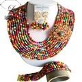 Marca Laanc 18 pulgadas Bohemia Multicolor Turquesa Sistemas de La Joyería Para Las Mujeres Accesorios Del Banquete de Boda Nigerianos Africanos AL140