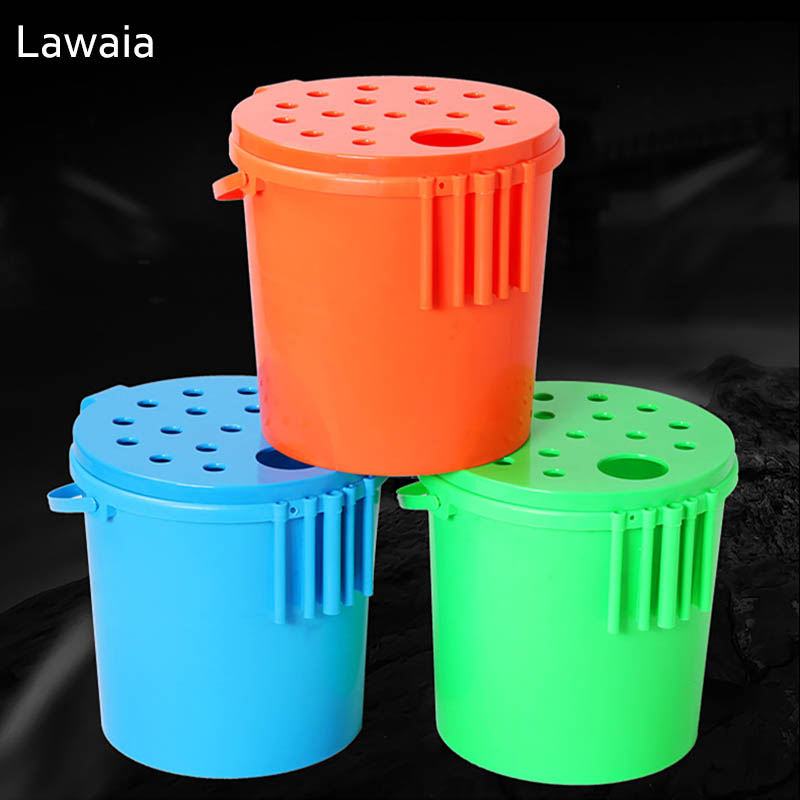 Lawaia Fishing Tackle Box Multi-Purpose Fishing Buckets Thickened Can Sit Fish Bucket Boxes Essential Fishing Tackle Accessories trulinoya multi purpose fishing bag 24 15 cm fish lock lure box accessories box style fishing bag set fishing tackle best