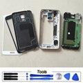 Caso telefone original quadro moldura tampa da bateria completa habitação corpo para samsung galaxy s5 g900 g900f g900h g900v g900a peças