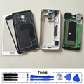 Teléfono original de cuerpo completo bisel del capítulo de vivienda cubierta de batería para samsung galaxy s5 g900 g900f g900h g900v g900a partes