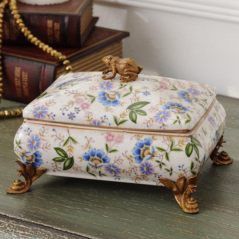 Керамическая и медная коробка ювелирных изделий, содержащая роскошные европейские керамические модные свадебные коробки конфет украшения
