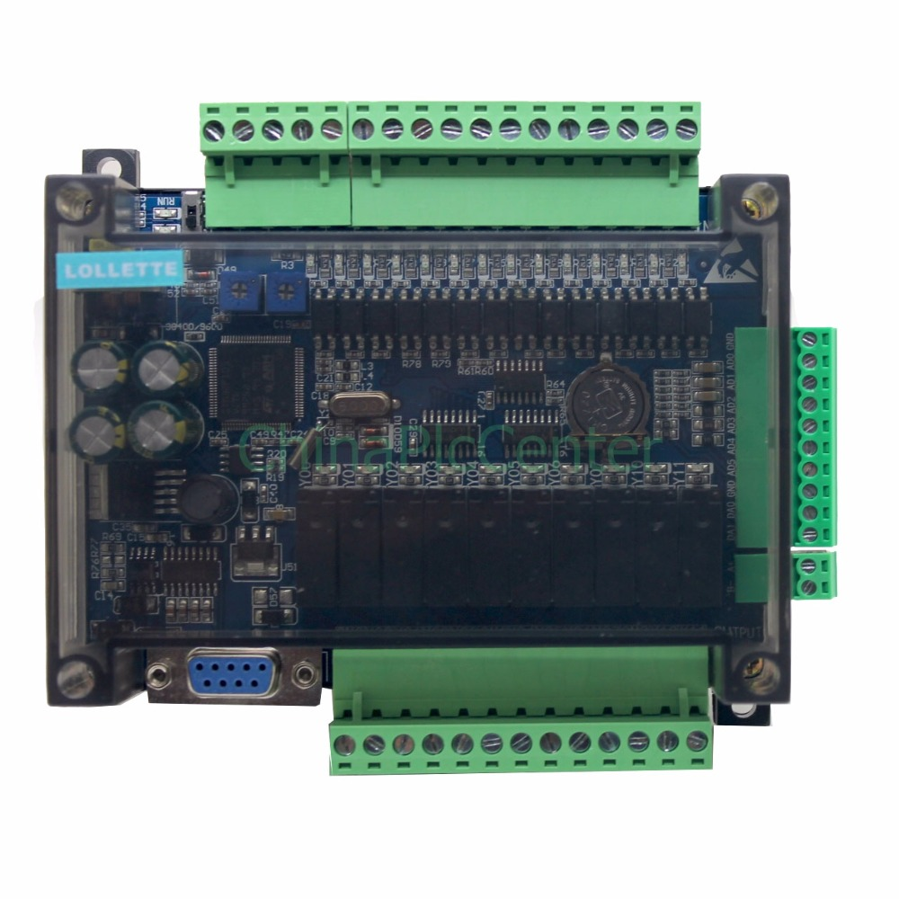 FX3U LE3U 24MR 6AD 2DA RS485 RTC (real time clock) 14 input 10 relay output 6 analog input 2 analog output plc controller new fx1s 20mr 4ad2da module board clock modbus 24vdc analog input output relay output for plc
