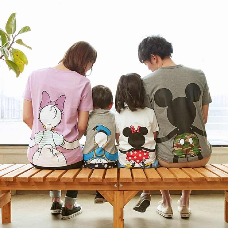 2017 New Arrival Family Matching Outfits Summer  Mouse Mother Baby Girl Family T Shirt for Father Son Clothes TopTee