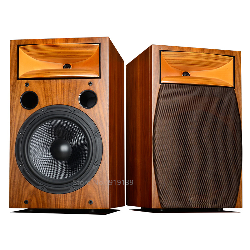 Powerful Sound Hifi Audio 10Inch 2-Way Bookshelf Speaker Pair For Living Room Home Cinema Theater Surround System  цена и фото
