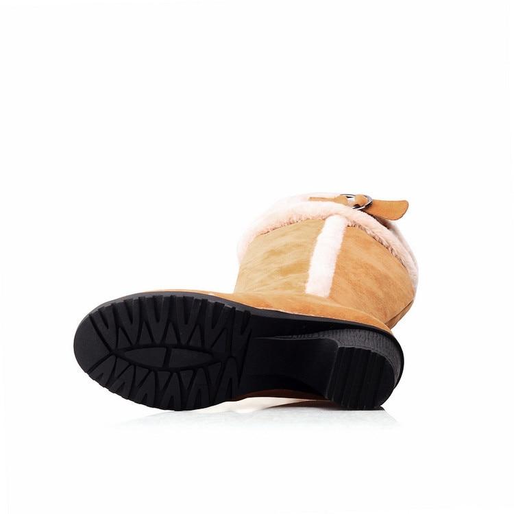 a3c7d30a3 marrom Mulheres Warmful Além Inverno Grande Altas 43 Botas De Joelho  Qualidade Preto Couro Marca amarelo Sapatos ...