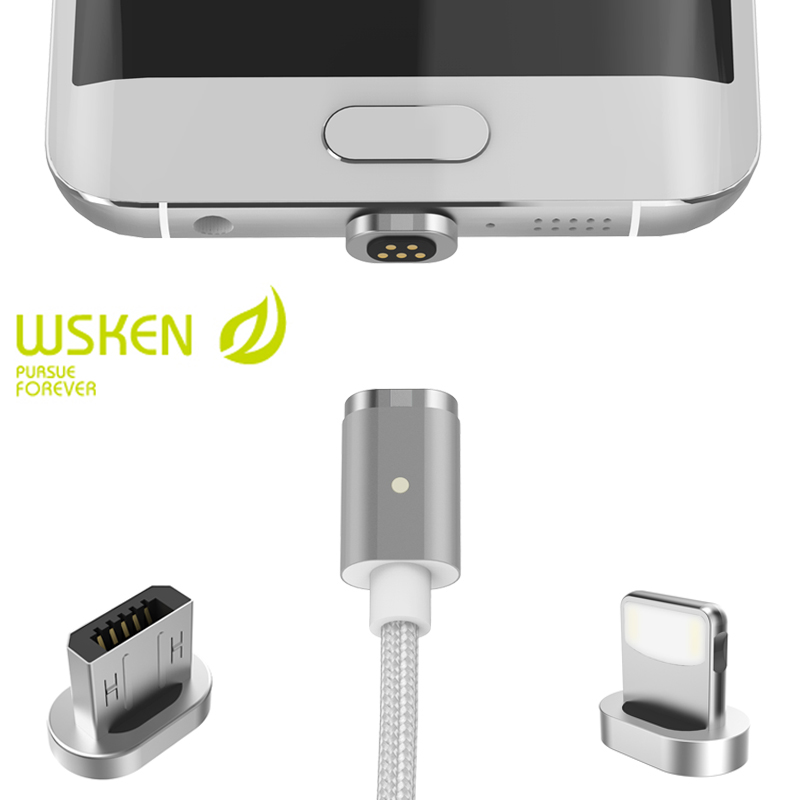 Wsken Magnetic Charging Adapter Cable For iPhone 7 6 6S Plus 5S SE For Samsung S7