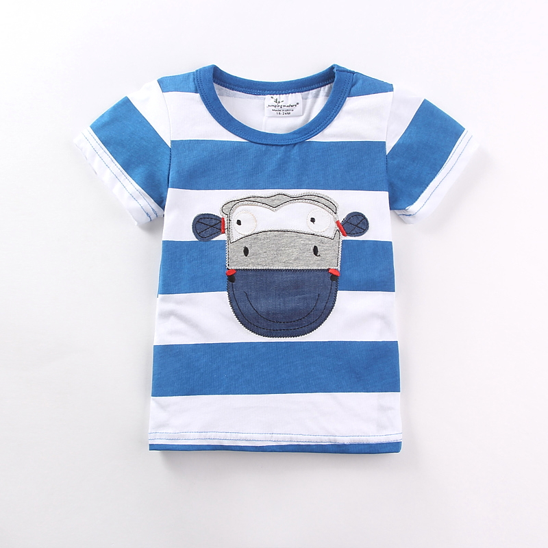 brand 2017 new fashion kids clothing 100%cotton blouse childrens clothes baby boy t shirts boys top tee cartoon Cow