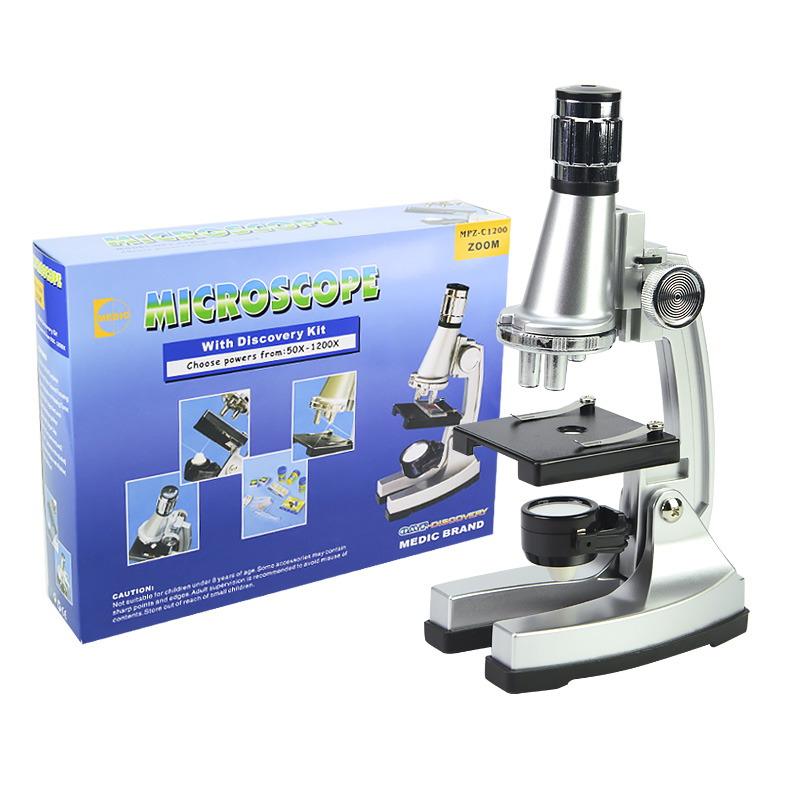Birthday Gift 1200X Student Toy biological microscope for Educational Beginner to Learn Science and microcosm in Microscopes from Tools