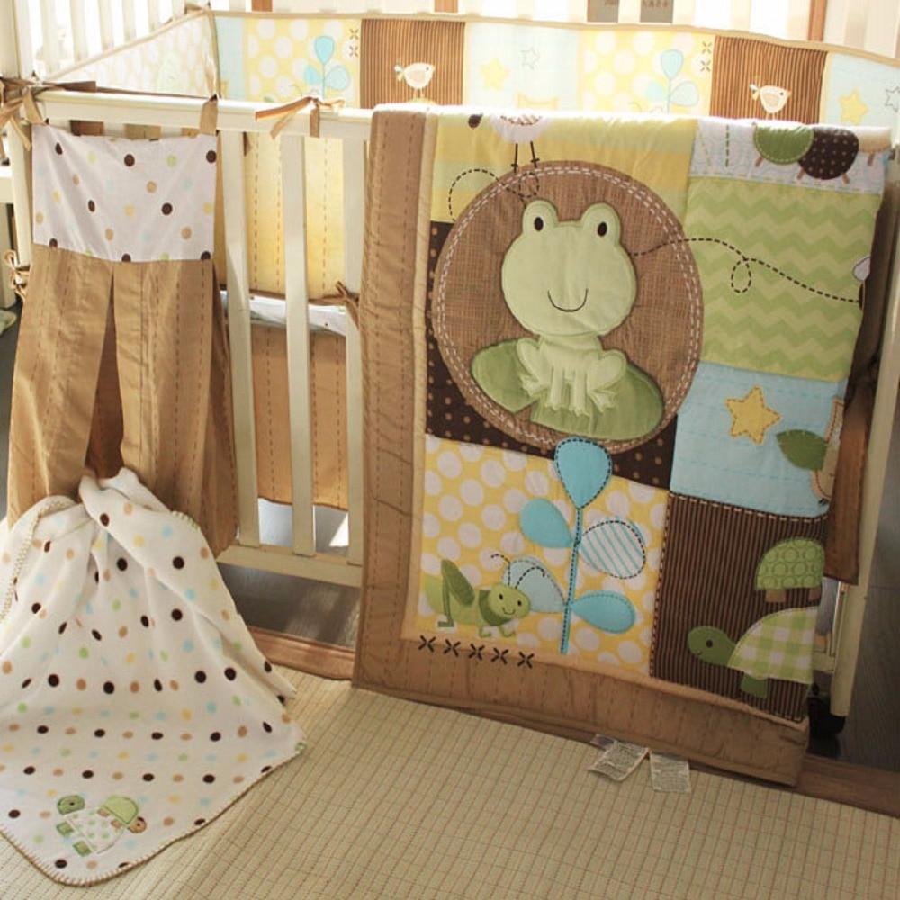 baby bedding set - comforter, crib sheet, crib bumper, crib skirtbaby bedding set - comforter, crib sheet, crib bumper, crib skirt