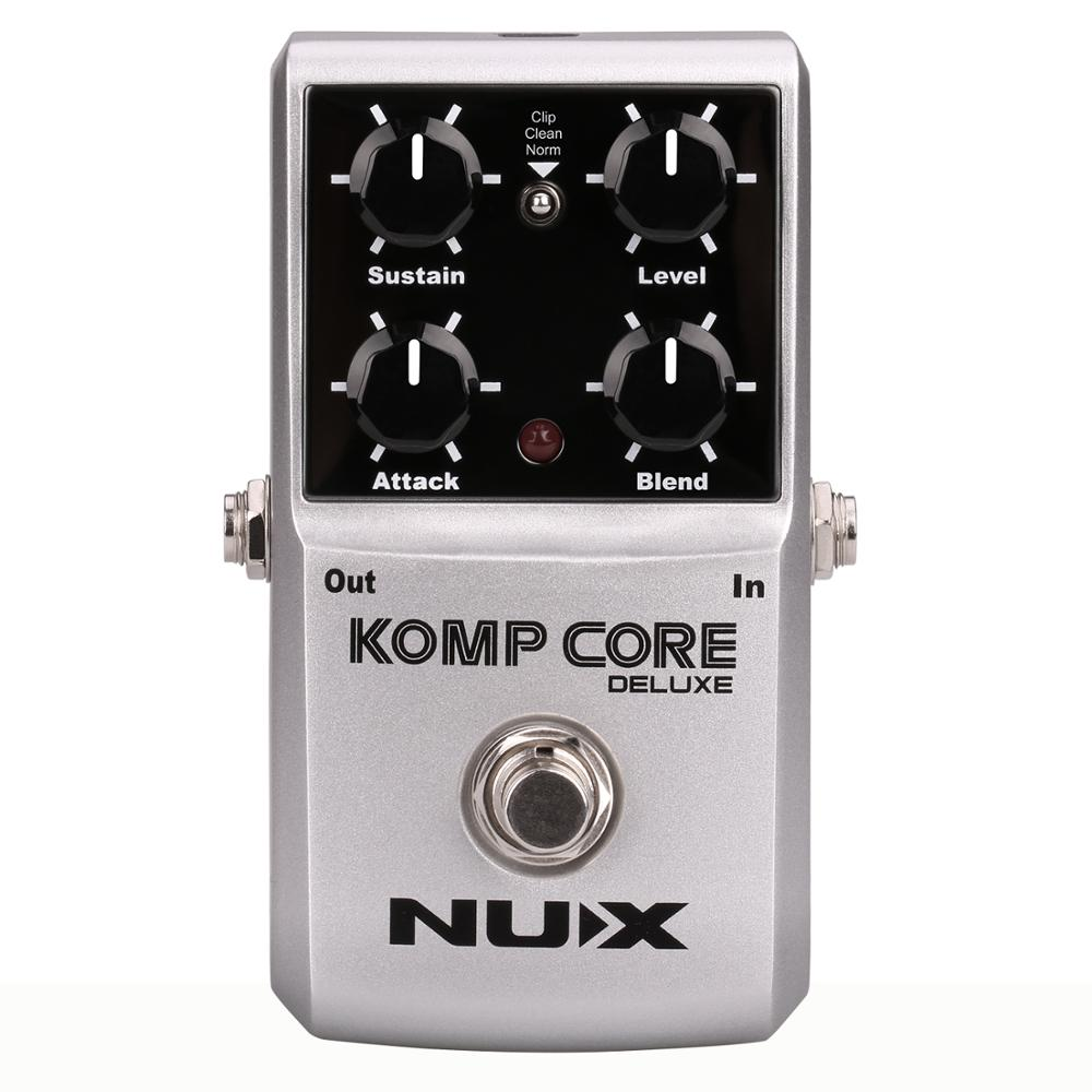 цена на NUX Komp Core Deluxe Compressor Guitar Pedal Multi-Function Analog Compressor Blend Circuit Guitar Accessories