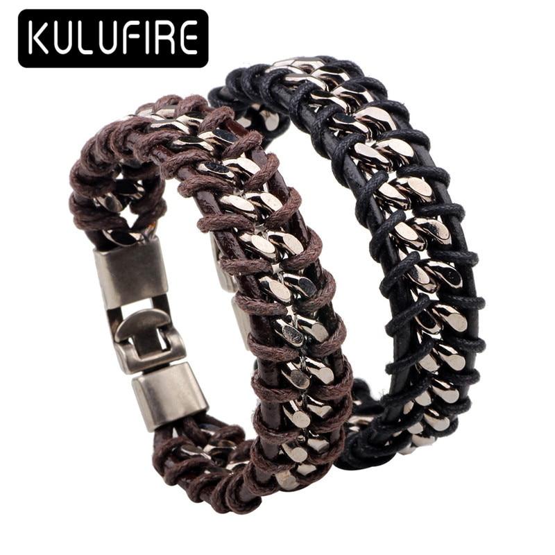 d7831d92993 2017 Men Jewelry PU Leather Bracelet for Women Men twist Pattern overwatch  pulseira masculina mujer bangles bileklik bohemian free shipping worldwide