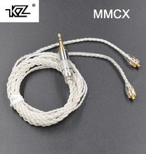 Hot KZ / TRN MMCX Cable Silver Plating Cable Upgraded Cable Replacement Cable Use For Shure SE535 SE846 UE900 DZ9 DZX NICEHK HK6(China)