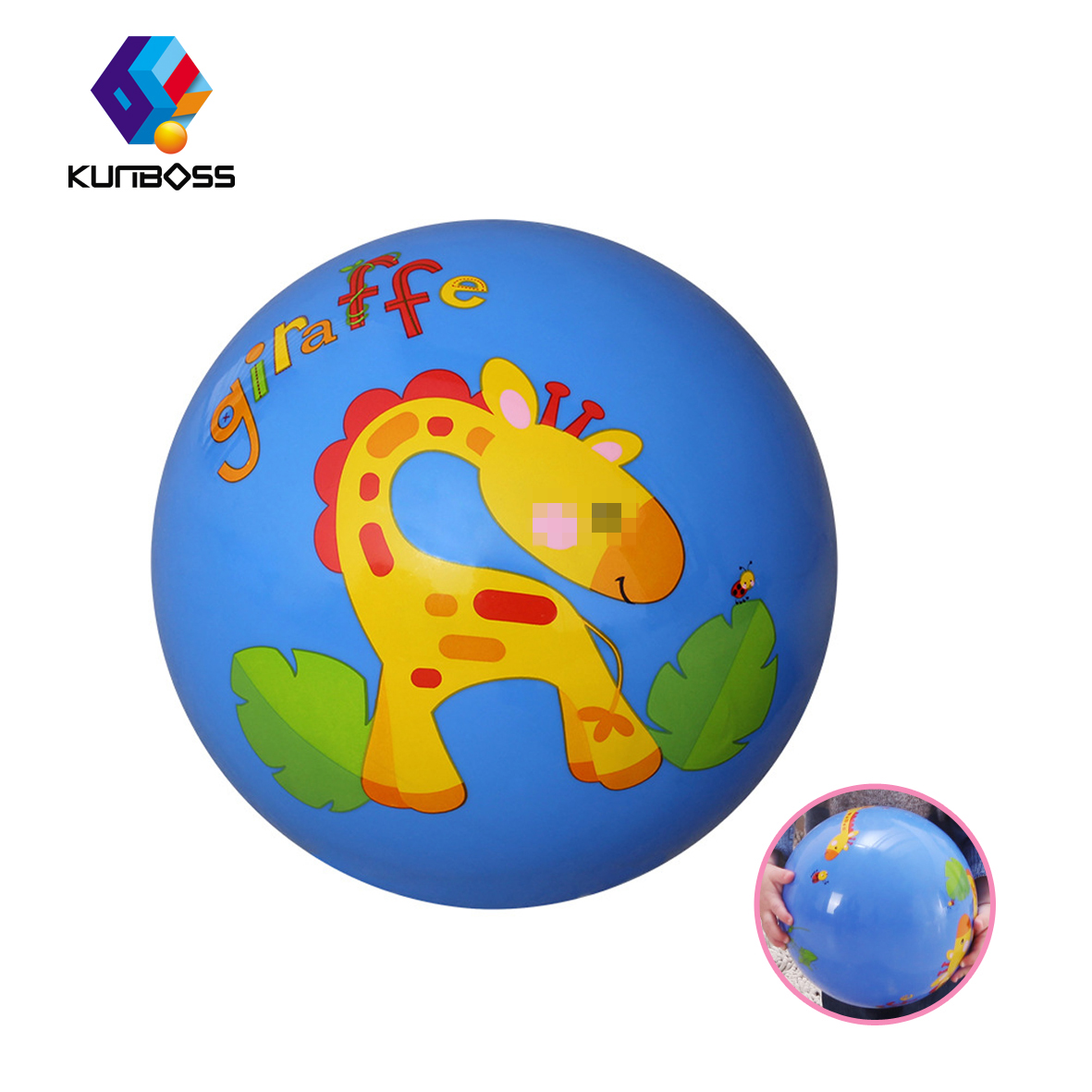 Cute Children Toy Hand Ringing Bell Puzzle Ball Baby Beat Ball Thickening Kids Toys Kindergarten Animal Inflated Ball