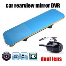 Promo offer HD car rearview mirror DVR include rear Camera 4.3 Inch TFT LCD Screen Car Rearview Mirror night vision dual lens two camera