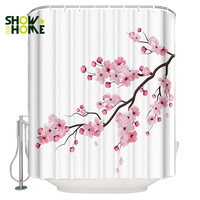 SHOWHOME Shower Curtain Japanese Cherry Blossom Shower Curtain Bathroom Decor