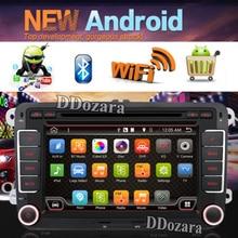 Android 6.0 Doble 2 Din Car Stereo Dvd GPS Bluetooth Para Volkswagen VW PASSAT TIGUAN Bora GOLF 5 6 4 Fabia Superb GPS