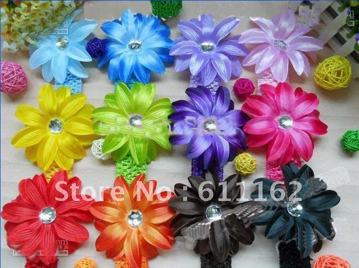 Лучшие продажи цветок лилии волосы детей волос украшают цветок B абы волосы девушки волосы луки 60 шт