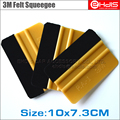 10pc car wrapping  Vinly Film Squeegee scrape wrap advertising film sticker installation tool gold 3m squeegee scraper tool A02G