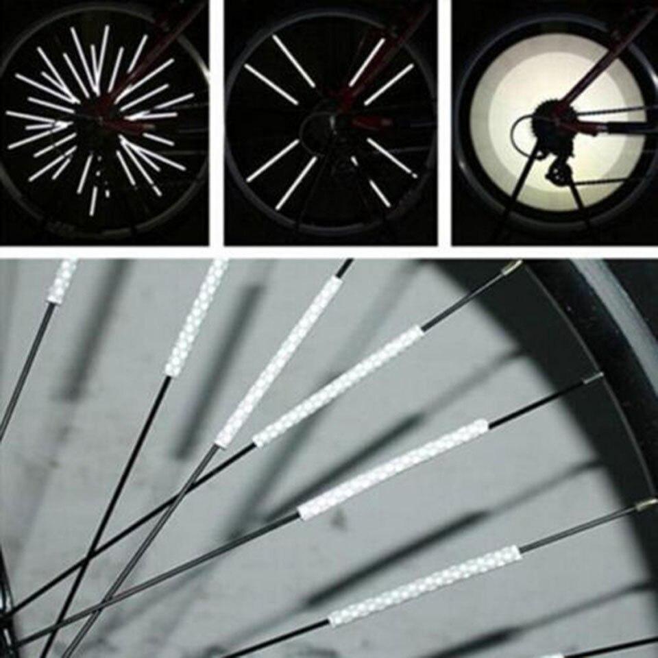 12Pcs Bicycle Mountain Bike Riding Wheel Rim Spoke Clip Reflector Warning JI78