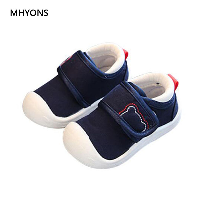 MHYONS Childrens Shoes 2018 New Spring Autumn Boys And Girls Casual Shoes Cotton Shoes non-slip soft Outdoor Toddler Sneakers
