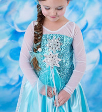 Free shipping New Style Girls Frozen Dress Elsa Anna beautiful Fashion princess Childrens Cloting