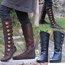 AGUTZM PLus Size 34-43 Martin Boots Women Shoes Woman Riding Fashion Best Quality Winter Knee-high
