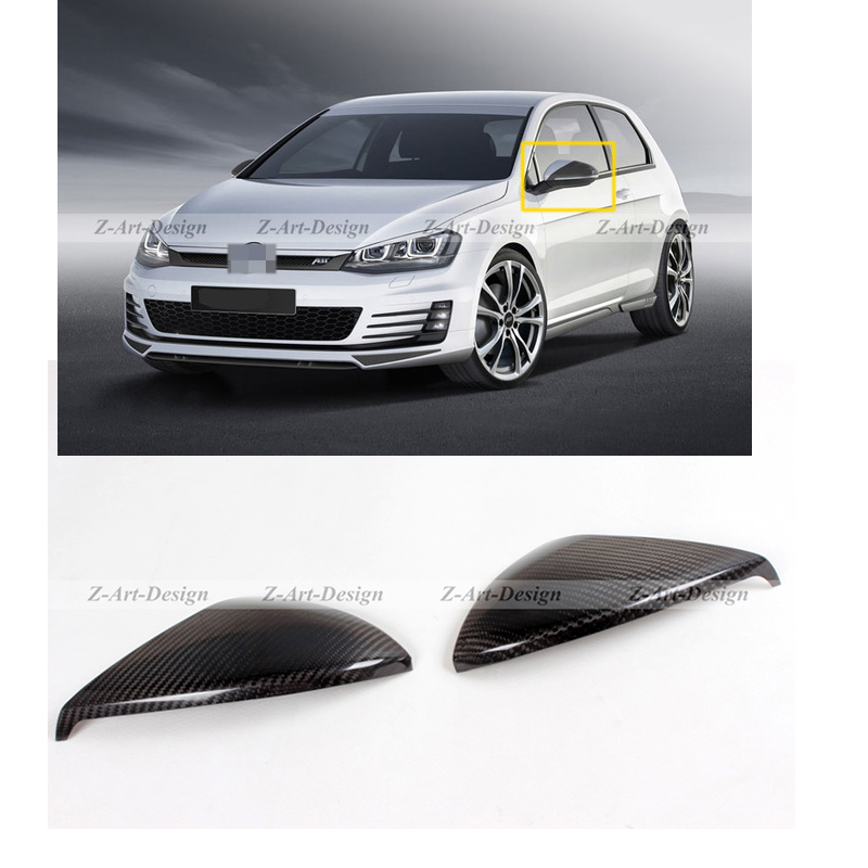1 Pair Carbon Fiber Cover Caps for VW Volkswagen Golf 7 Rear Mirror Cover Modification Kit IN STOCK, Free DHL car rear trunk security shield cargo cover for volkswagen vw tiguan 2016 2017 2018 high qualit black beige auto accessories