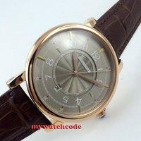 Debert серый циферблат розового золота 21 jewels miyota Автоматическая Мужские наручные часы D4