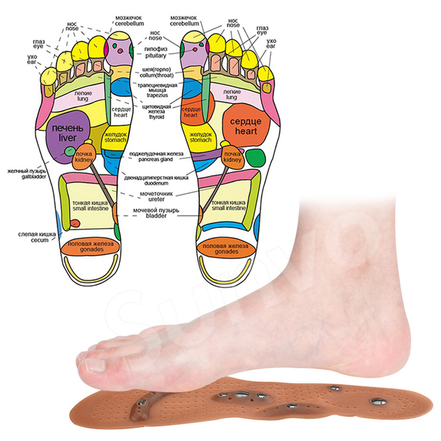 Magnetic Insoles Slimming Therapy for Weight Loss Massage Foot Care Shoes Mat Pad Brown Insole Wholesale Dropshipping Soles 1