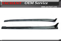 Car Styling Auto Accessories Carbon Fiber Side Skirt Under Borad Fit For 2011 2013 W218 CLS RNT Style Side Skirts Under Board