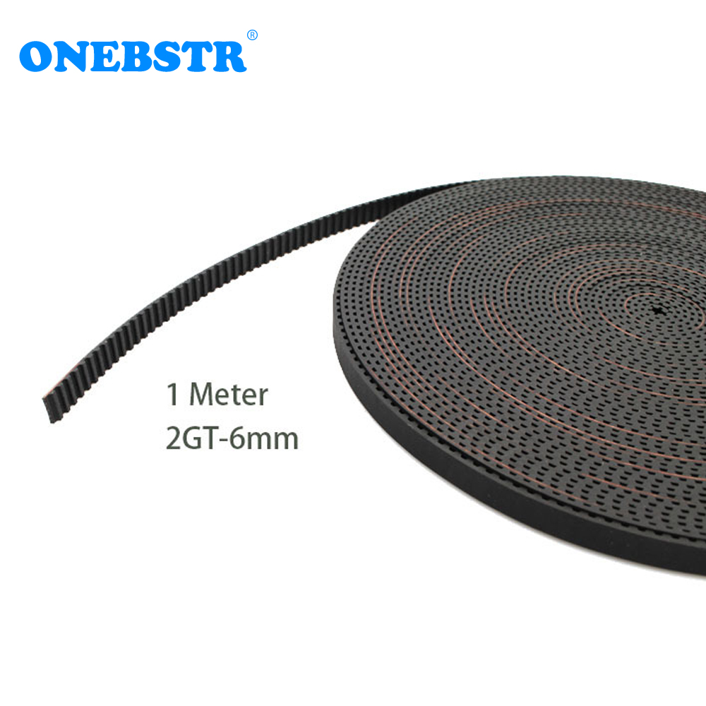 1 meter 2GT-6mm rubber opening belt S2M GT2 MXL belt GT2-6mm timing belt for 6mm belt 3D printer accessories