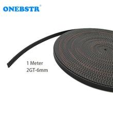 1 meter 2GT-6mm rubber opening belt S2M GT2 MXL belt GT2-6mm timing belt  for 6mm belt 3D printer accessories