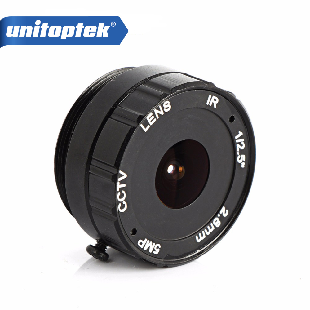 2.8MM 120 Degree CCTV Camera Lens CS Mount Monofocal Manual Iris CCTV Lens Support IP Analog Camera 5MP L cctv camera housing glass m12 or cs mount