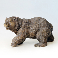 ATLIE BRONZES Casting crafts sculpture bear Bronze Bears Statues European Christmas Gifts garden statues