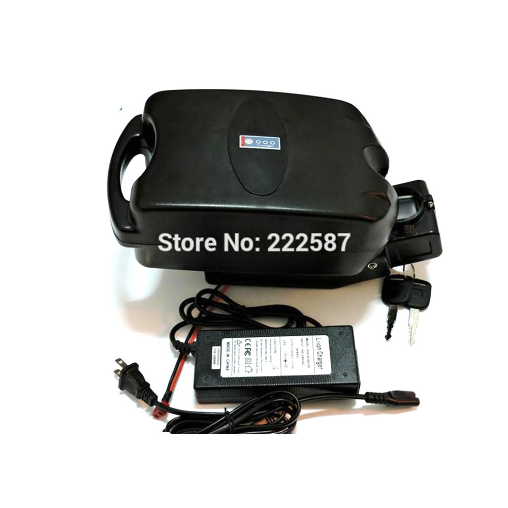 Great 750W 48V 13AH Lithium Battery for Electric Bike ebike Li-ion Battery with Case Ebike battery BMS and charger