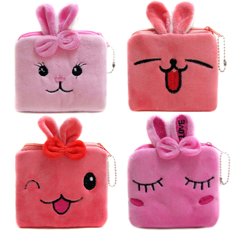 2016 Cute Women Coin Purses Cartoon Rabbit Zipper Wallets Children Bags Female Storage Pouch Coin Wallets джинсы escada sport escada sport es006ewtku44