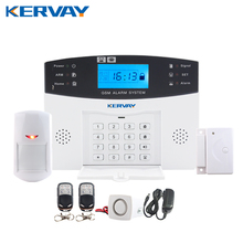 433 MHz Wireless Alarm Clock GSM Digital Alarm System PIR Detector Door Sensor Remote Control Home Burglar Security Sensor Alarm