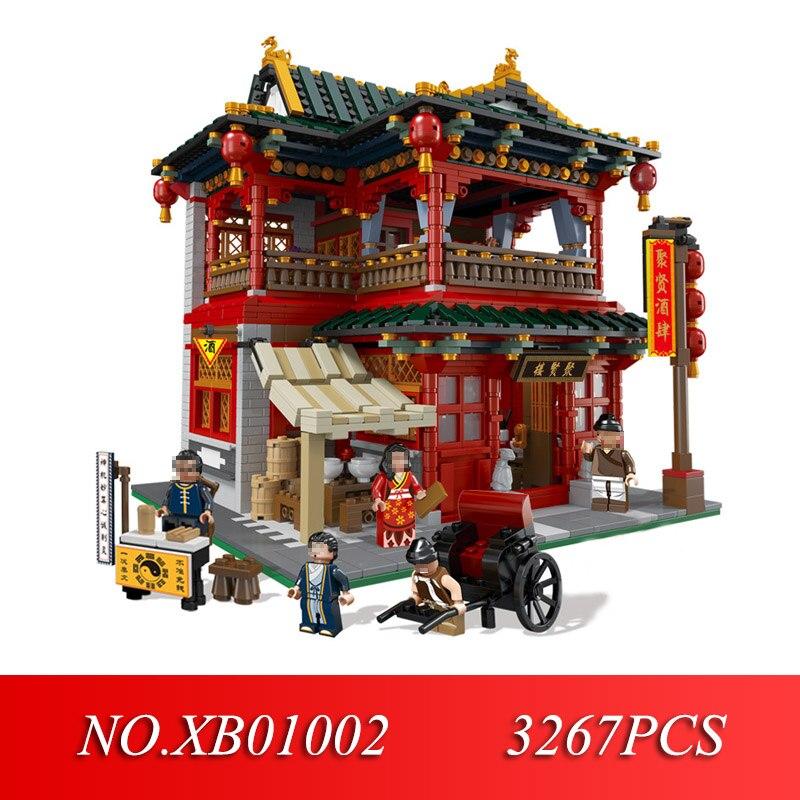 XINGBAO 01002 3267 pièces MOC série créative belle taverne ensemble enfants éducation blocs de construction briques jouets modèle cadeau-in Blocs from Jeux et loisirs    1