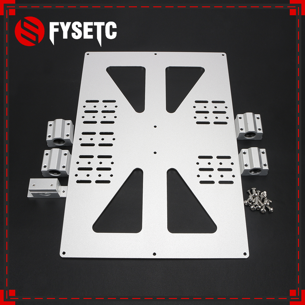 3D Printer Parts Heating Platform Z-axis With SC8UU Support Aluminum Plate For Prusa I3 /Wanhao Support Plate V3 300 Heatbed 42g1a z plate ebr50217701