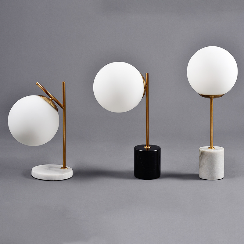 Style; Modern Glass Table Lamps Nordic Simple Bedroom Bedside Reading Desk Lamp Home Decoration Led Table Lights E27 Lamparas Lighting Fashionable In