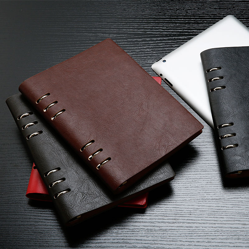 PU leather notebook diary Business Notebook A5 leather notebook with ...