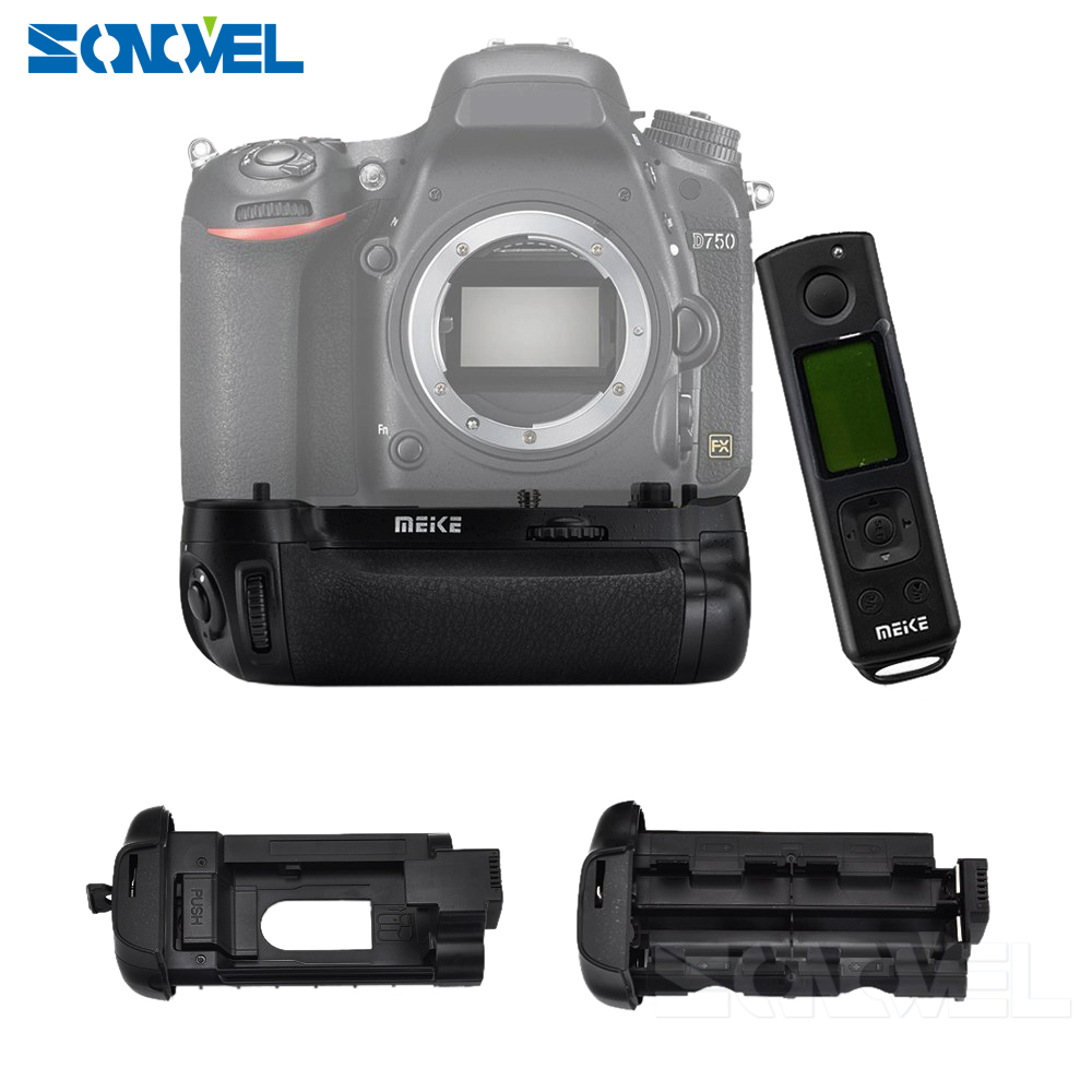 Meike MK-DR750 2.4G wireless Remote Control Vertical Battery Grip w/ Battery Holders MB-D16 for Nikon D750 as EN-EL15 meike mk d500 vertical battery grip shooting for nikon d500 camera replacement of mb d17