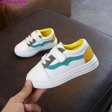 HaoChengJiaDe Spring Baby Girls Brand White Sport Sneakers Children's Fashion Leather Fashion