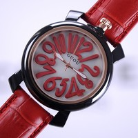 Genuine High End Personalized Belt Color Digital Large Dial Neutral Fashion Genuine Leather Strap Ladies Watch