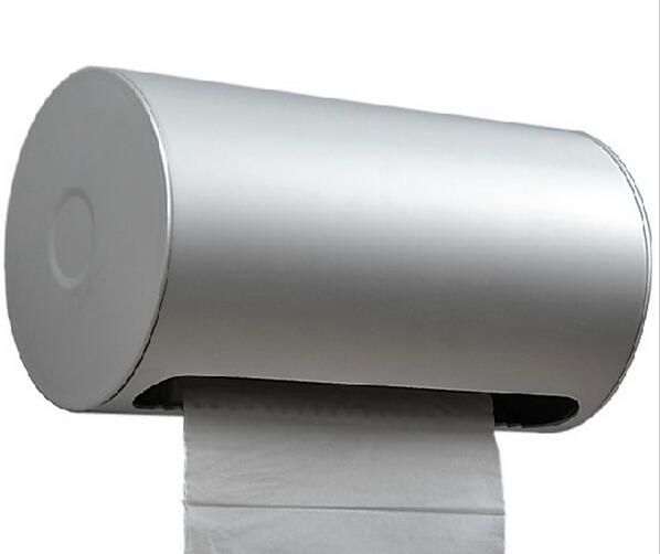 купить Space aluminum toilet paper box waterproof lengthen tray toilet paper holder paper towel holder top quality bathroom accessories по цене 1511.58 рублей