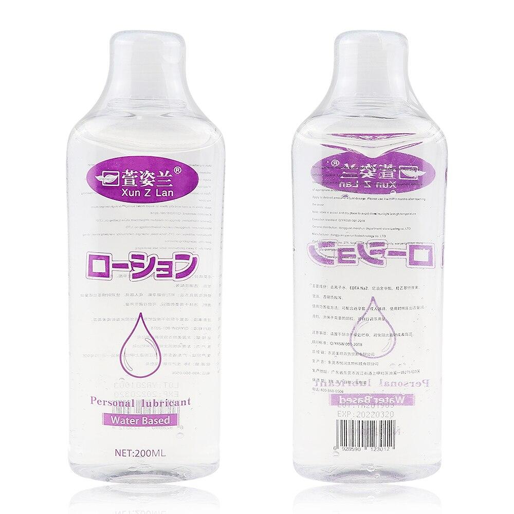 200ML kişisel yağlayıcı su bazlı Anal seks yağı hyaluronik asit vücut masajı yağ seks madeni vajinal jel yetişkin seks ürünler