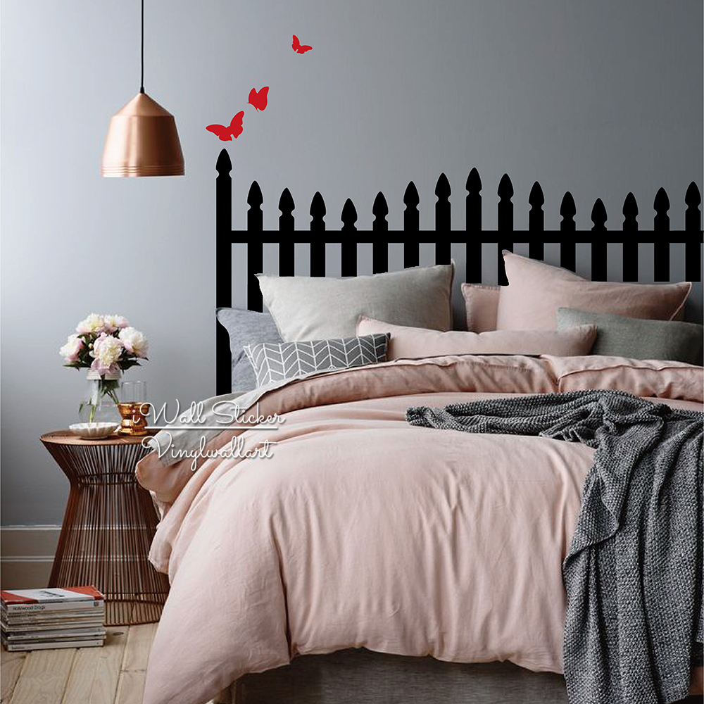 Headboard Wall Sticker Modern Headboard Wall Decal DIY Creative Wall Decor Bedroom...