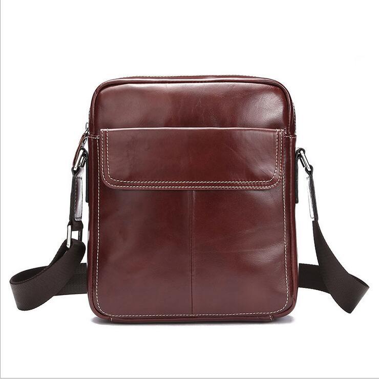ФОТО  Leather Oxford Vintage Men Crossbody bag Men's Messenger Bags single shoulder bag